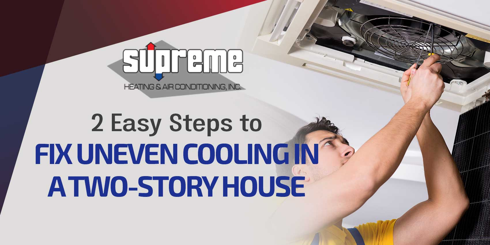 2 Easy Steps to Fix Uneven Cooling in a Two-Story House